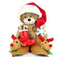 teddy-bear Santa Claus Photographic Print