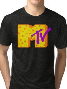 MTV Cheese Logo Tri-blend T-Shirt