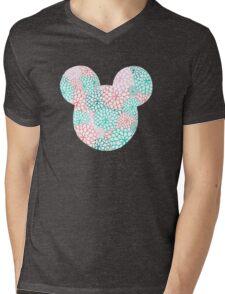 Mouse Ears - Bursting Blossoms Mens V-Neck T-Shirt