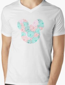 Mouse Ears - Bursting Blossoms Mens V-Neck T-Shirt