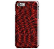 exotic lines on red iPhone Case/Skin