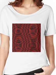 exotic lines on red Women's Relaxed Fit T-Shirt