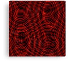 exotic lines on red Canvas Print