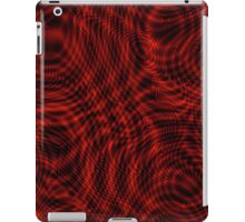 exotic lines on red iPad Case/Skin
