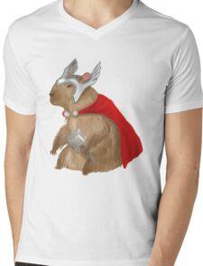 Capybara Thor Mens V-Neck T-Shirt