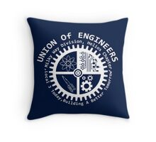 Union of mad engineers Throw Pillow