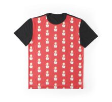 Snowman with Red Background Graphic T-Shirt