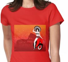 Vespa Woman Womens Fitted T-Shirt