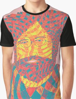 Jerry Garcia Psychedelic Graphic T-Shirt