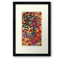 Cataleas scarlet carp Framed Print