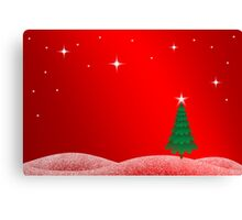Christmas Landscape Canvas Print