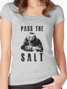 Stoner Sloth - Pass the salt Women's Fitted Scoop T-Shirt