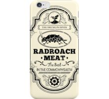Drumlin Diner Radroach Meat (Black) iPhone Case/Skin