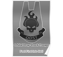 ODST - Feet First Into Hell Poster