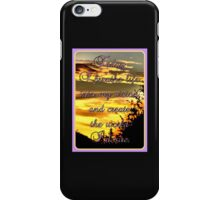 Today I breathe life into my vision, and create the world I desire. iPhone Case/Skin
