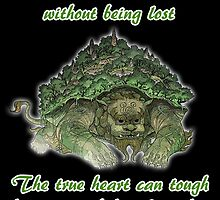 The True Mind..... - Lion Turtle Quote by Grinalass