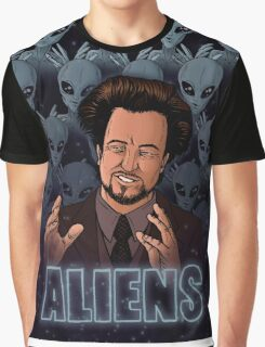 The Aliens Guy (Giorgio Tsoukalos) Color Graphic T-Shirt