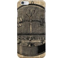 Sewing Tools Dictionary Art iPhone Case/Skin