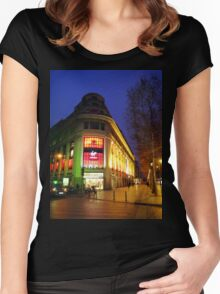 Paris at Dawn Women's Fitted Scoop T-Shirt