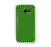 3D Room - Black On Green Samsung Galaxy Case/Skin