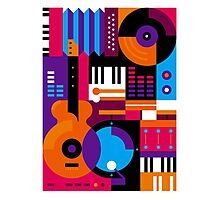 Music Mosaic Photographic Print
