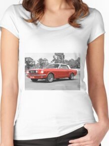 Red Mustang Women's Fitted Scoop T-Shirt