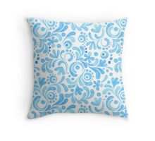 Abstract floral watercolor pattern.  Throw Pillow