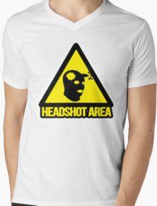 Headshot Mens V-Neck T-Shirt
