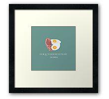 Ron Swanson Loves Bacon Framed Print