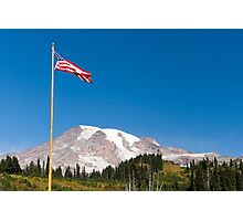 American Flag flies over Paradise Photographic Print