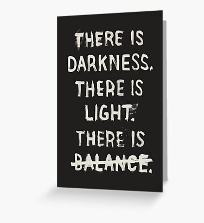 NO BALANCE Greeting Card