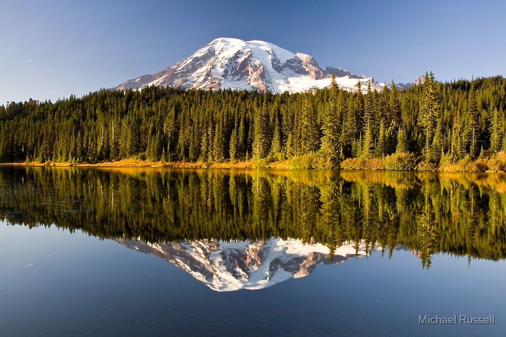Mount Rainier from Reflection Lakes by Michael Russell