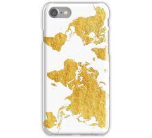 World Map Gold Vintage iPhone Case/Skin