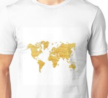 World Map Gold Vintage Unisex T-Shirt