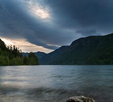 Storm over Cameron Lake by Michael Russell