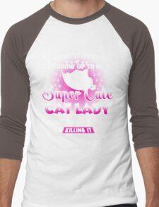 super cute cat Men's Baseball ¾ T-Shirt
