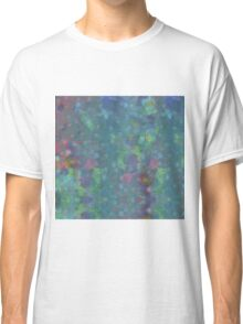 Blue and green abstract painting Classic T-Shirt