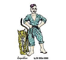 LeopardLass by Dr Mike 2000 Photographic Print