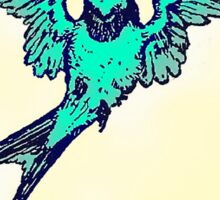 teal swallow Sticker