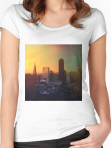 Sun's Coming Up Women's Fitted Scoop T-Shirt