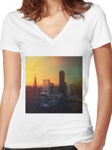 Sun's Coming Up Women's Fitted V-Neck T-Shirt
