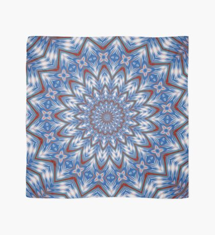 Seventeen Pointed Star In Red White and Blue Scarf