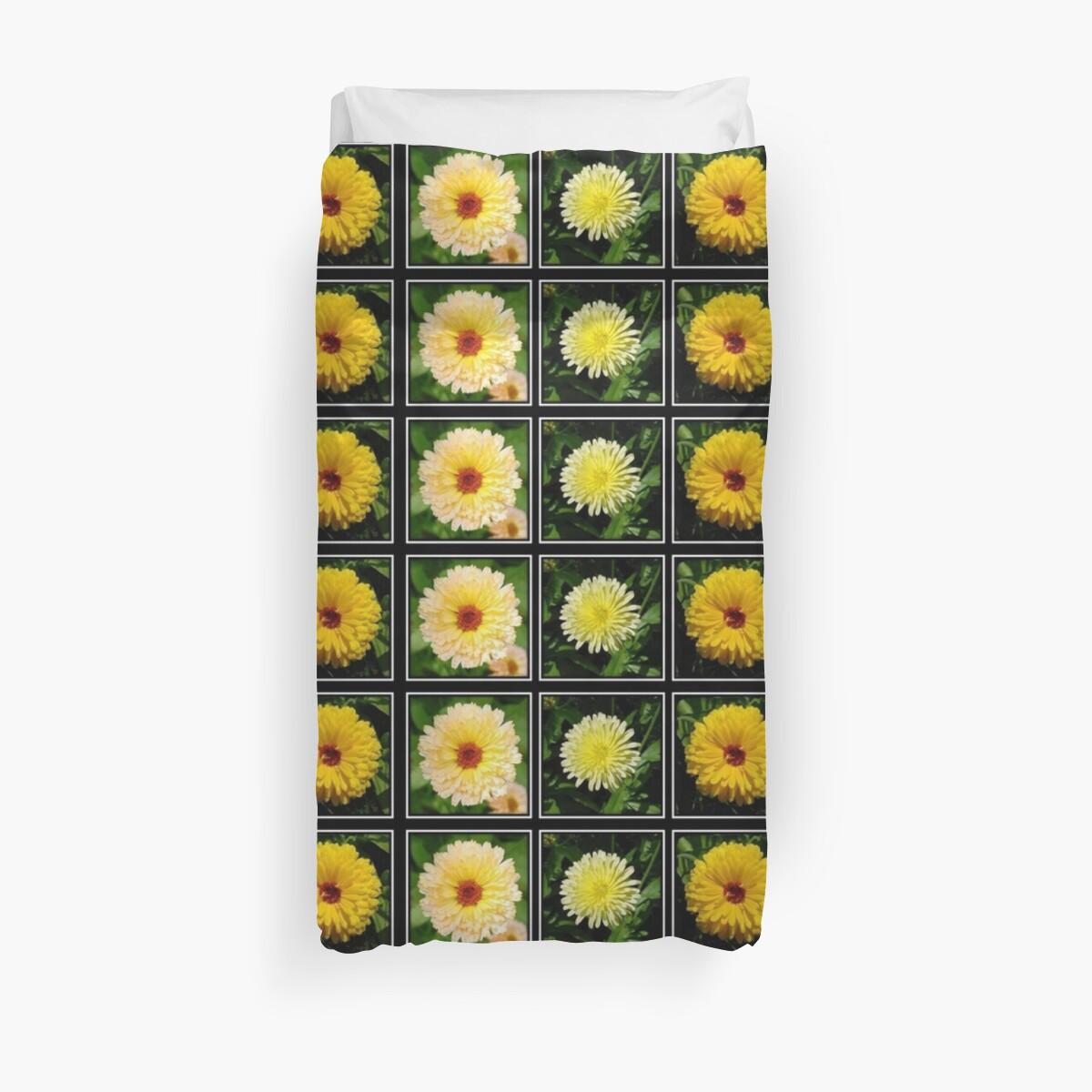 Yellow Marigold Triptych by taiche