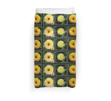 Yellow Marigold Triptych Duvet Cover