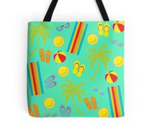 Summer Tropical Flip-flops Palm Trees Beach Towel Pattern Tote Bag