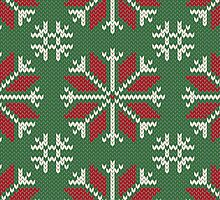 Knitted Christmas jacquard by olgart