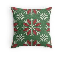Knitted Christmas jacquard Throw Pillow