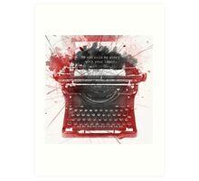 What Richard Castle Said 2.0 Art Print