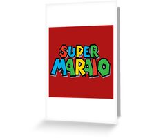 Super Maraio Greeting Card