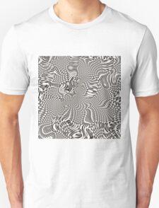 exotic lines on grey Unisex T-Shirt